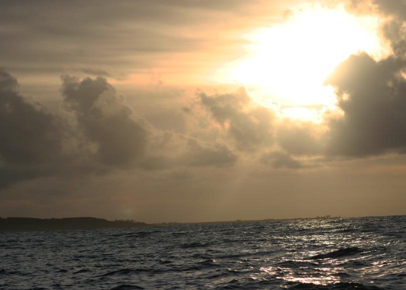 sunrise, ocean, Kauai
