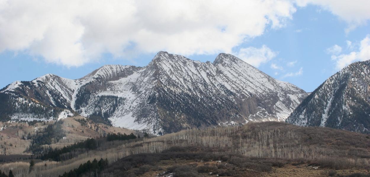 Colorado mountains, snowy mountains