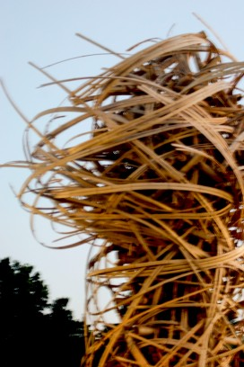 Bamboo sculpture, Denver Botanic Gardens --sometimes love feels a bit like a tornado