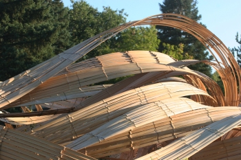 bamboo wave sculpture