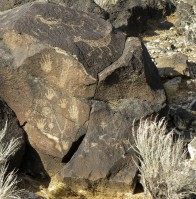 Petroglyph group, Albuquerque, New Mexico