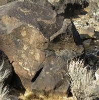 Petroglyph group, Albuquerque, New Mexico