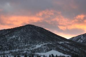 Colorado, mountain, sunset