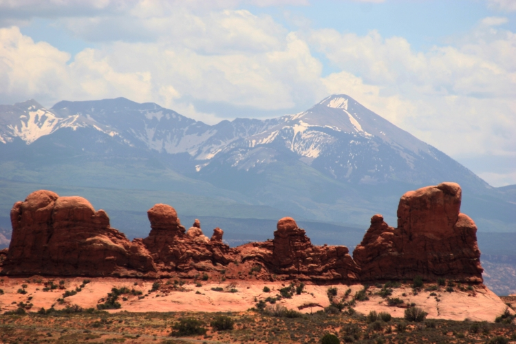 Arches National Park, Utah. For those in the desert, a few drops of water from the mountain means a lot.