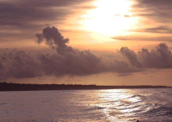 sunrise, Kauai, ocean