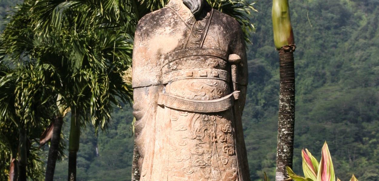Kahn statue, Oahu, Hawaii, Chinese cemetary