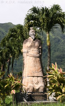 Khan statue (warrior leader), Chinese Cemetary, Oahu Island, Hawaii