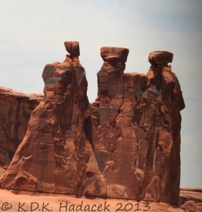 rock formation, three shamans, Moab Utah, Arches National Park
