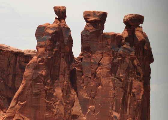 rock formation, three shamans, Moab Utah, Arches National Park