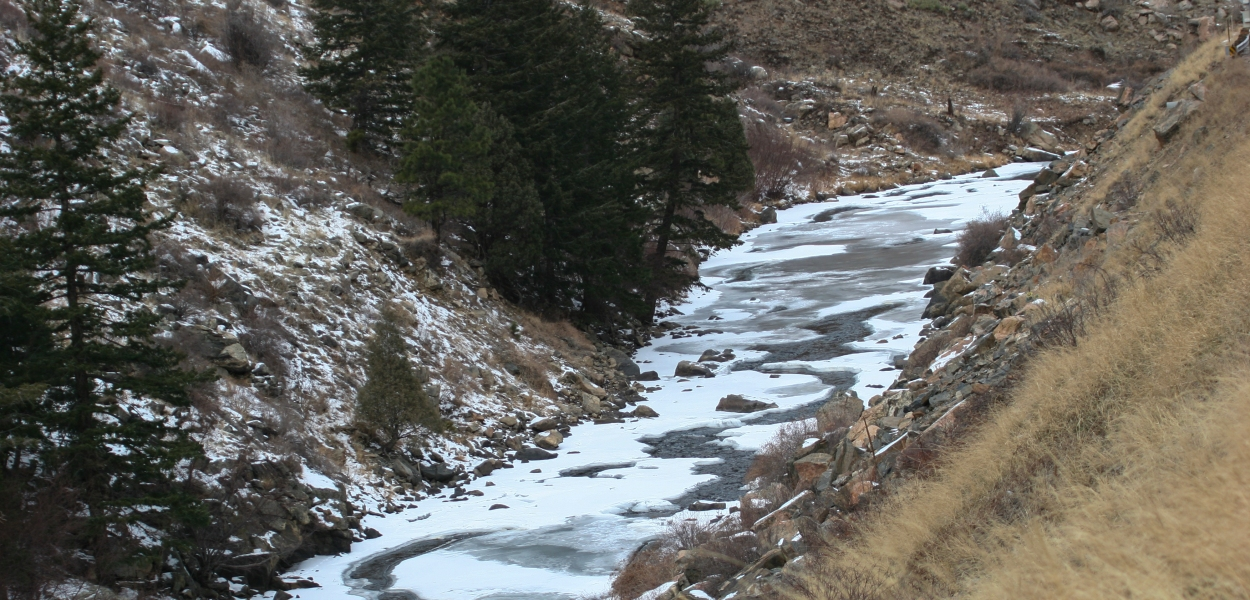 frozen mountain stream, Colorado