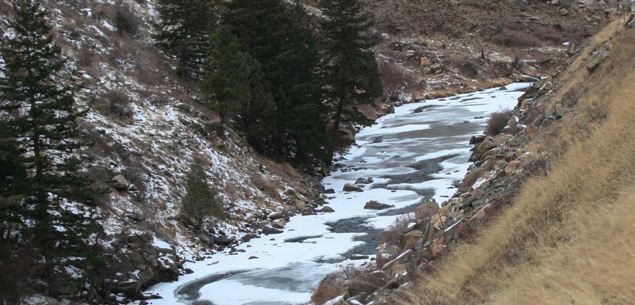 frozen mountain stream, Colorado