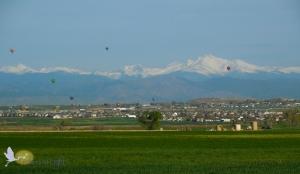 Rocky mountains, hot air balloons