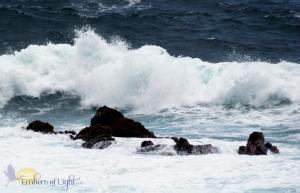 water, rocks, ocean, beach, wave, Laupahoehoe park