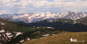 Rocky Mountain National Park, mountains with snow
