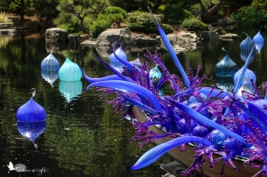 pagoda, Chihuly glass sculpture, Denver Botanical Garden