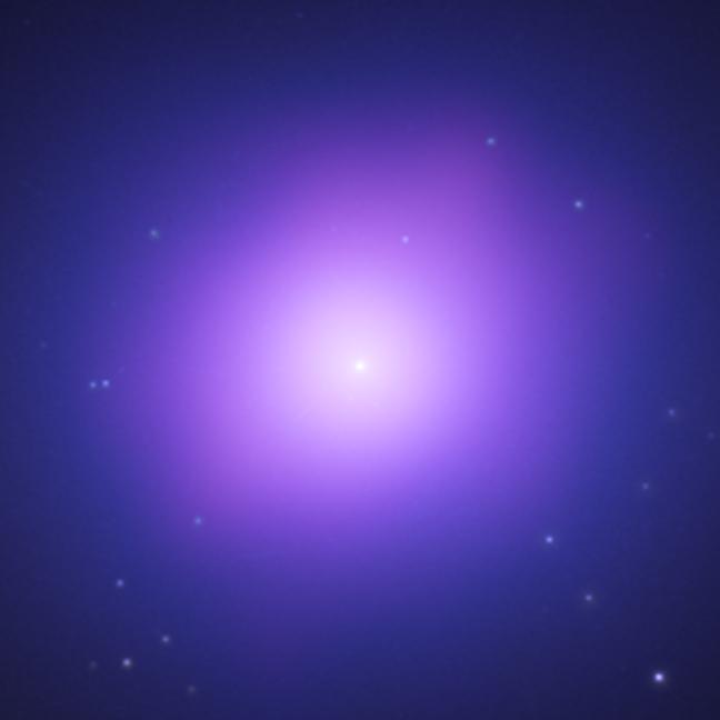 purple glow