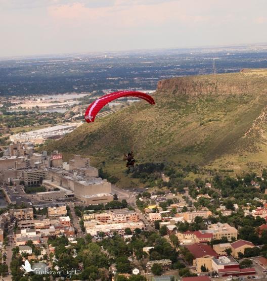 paraglider, Golden Colorado