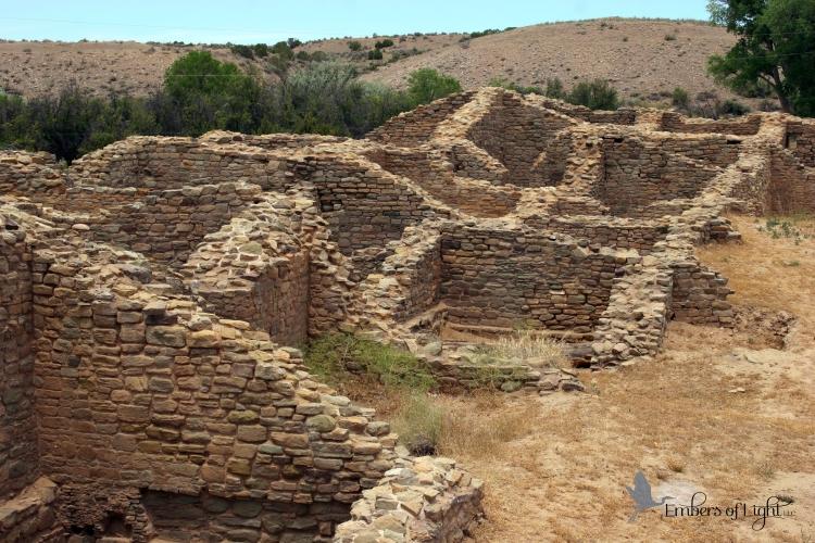 Aztec National Monument, brick ruins