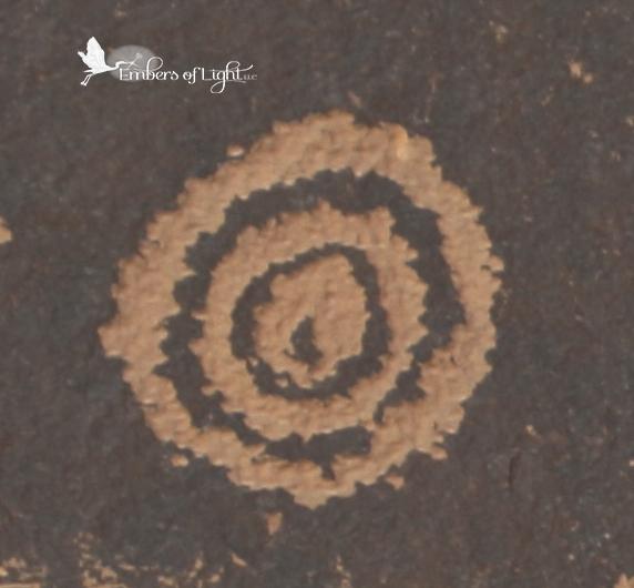 petroglyph, concentrick circles