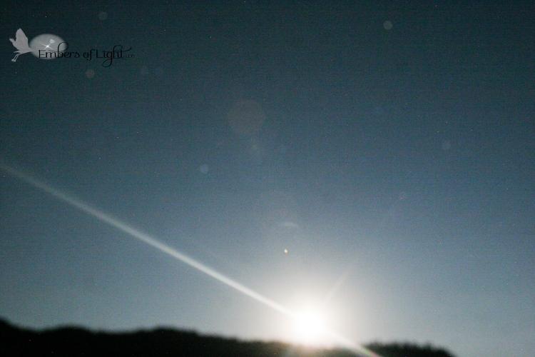 moonrise; orbs
