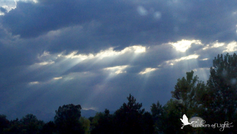 rays of light, clouds