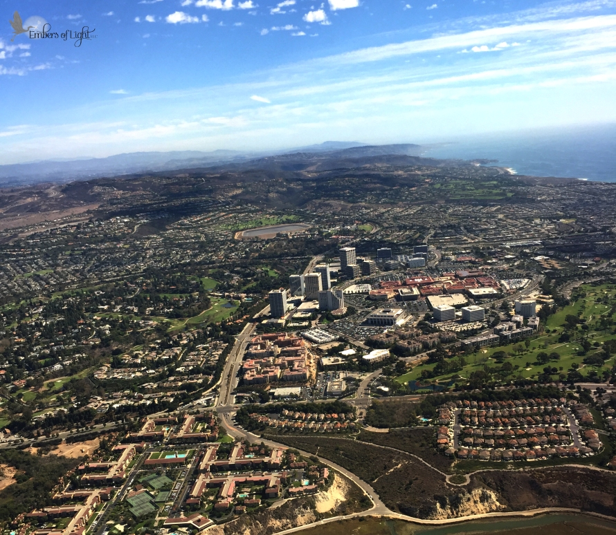 orange county, california, aerial view