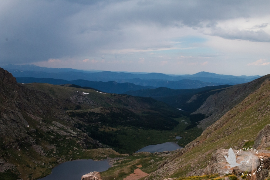Rocky Mountains; view from Mt. Evans, Colorado
