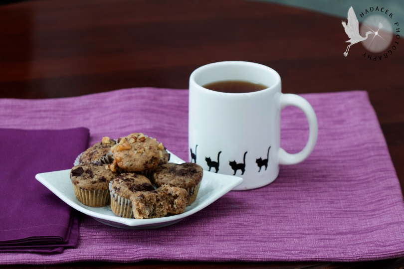 snack, tea, muffins