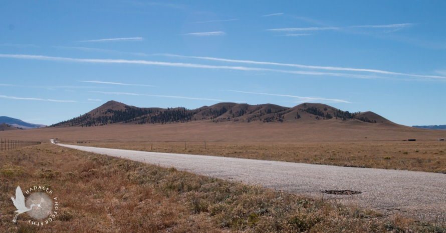 rural road; hills