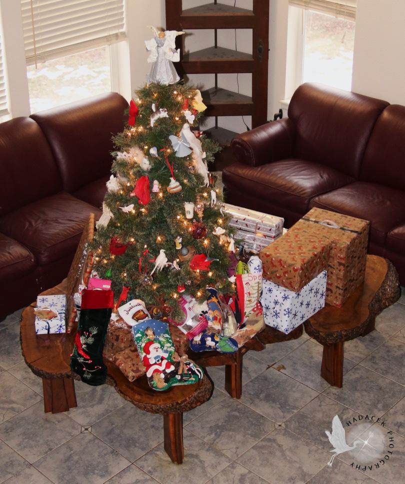 Christmas tree; Christmas presents