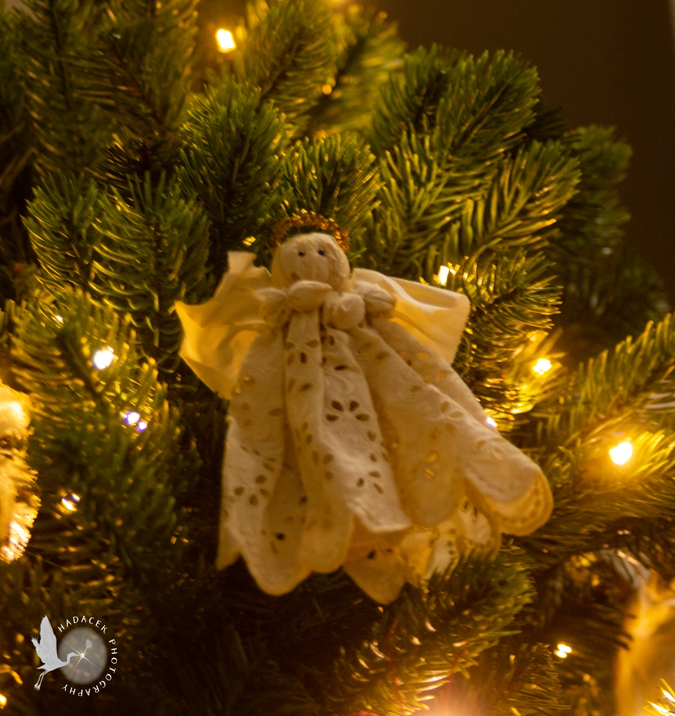 hand-made angel ornament