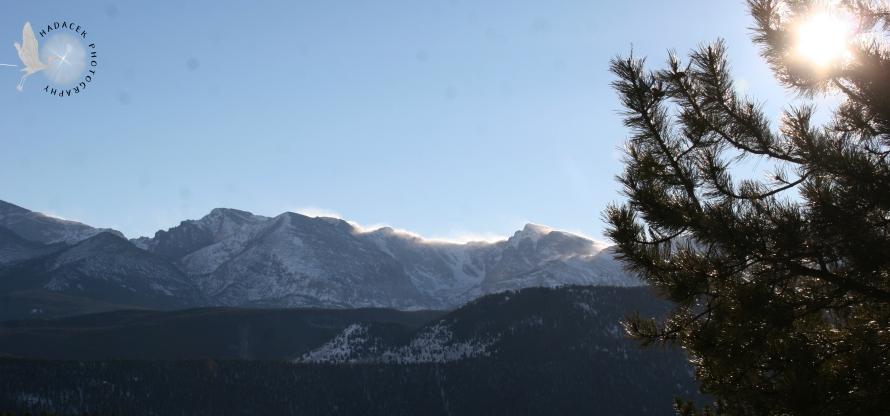 RMNP, snow spindrift, peaks
