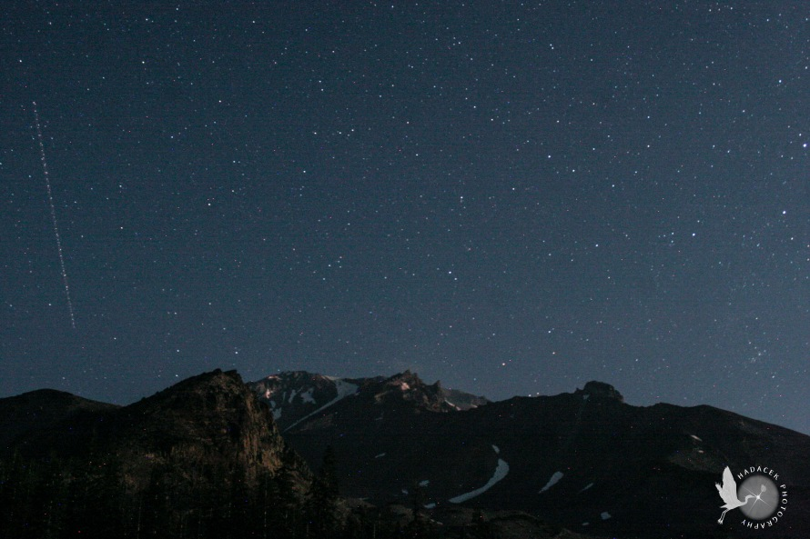 stars, Mt. Shasta