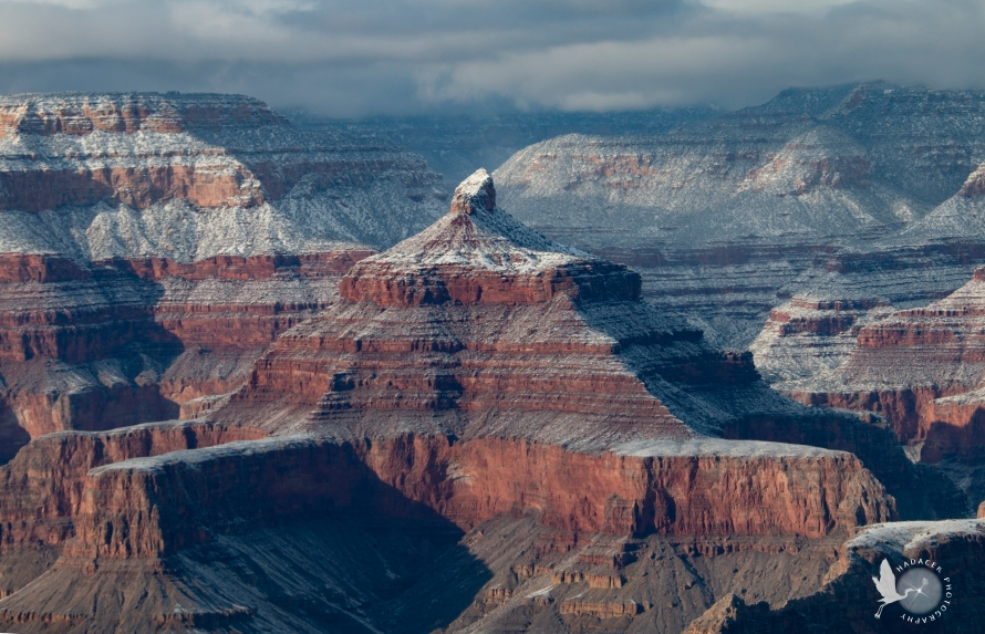 Vishnu Temple, Grand Canyon in winter